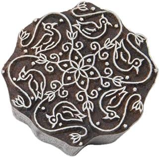 Blockwallah Indian Swans Wooden Block Stamp