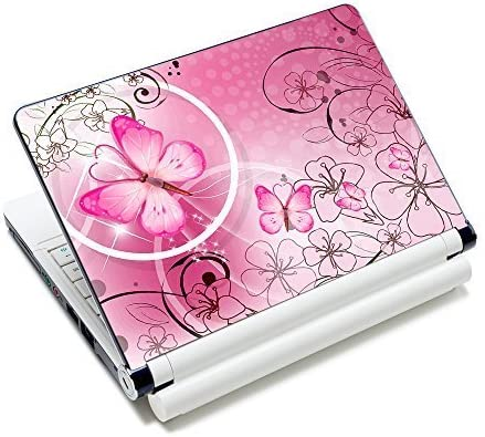 Amazon Com Pink Butterflies Flowers 11 6 13 13 3 14 15 15 6 Inches Netbook Laptop Skin Sticker Reusable Protector Cover Case For Toshiba Hp Samsung Dell Apple Acer Leonovo Sony Asus Laptop Notebook