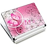 Pink Butterflies & Flowers 11.6 13 13.3 14 15 15.6 inches Netbook Laptop Skin Sticker Reusable Protector Cover Case for Toshi
