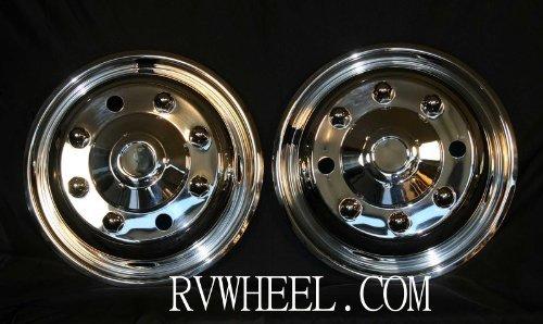 1995-2016 International 4300/4400/4700 19.5' 8 Lug Front Pair Wheel Simulators Free UPS Shipping www.rvwheel.com