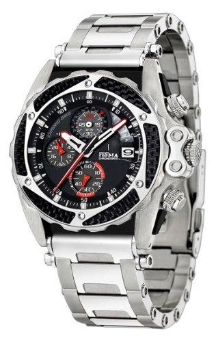 3bddbe980ec9 Festina F16273 2 - Reloj cronógrafo de caballero de cuarzo con correa de  acero inoxidable plateada - sumergible a 100 metros  Amazon.es  Relojes