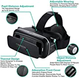 3D Virtual Reality Headset Vr For Iphone 7 / 6S /6 / 5 , Samsung, Motorola, Lenovo, Xiaomi, Nexus, Oneplus, Sony Smartphones.