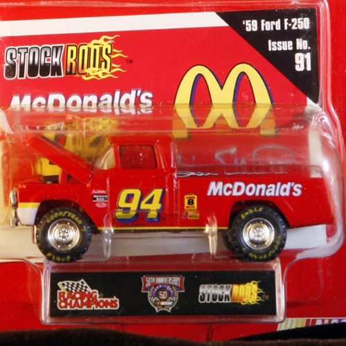 - Racing Champions - Stock Rods Series - 3.25 inch Replica - NASCAR 50th Anniversary Limited Edition - B. Elliott #94 - 1959 Ford F-250 - McDonald's - Super 8 - Issue #91 by Racing Champions
