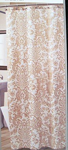 (Croscill Medici Gold and White Wheat Fabric Shower Curtain)