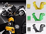 Front Chain Sprocket Engine Cover CNC for 2014-2015 Kawasaki Ninja 1000 Z1000SX (Black)