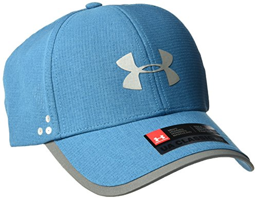 Under Armour Men's Flash ArmourVent 2.0 Cap, Bayou Blue (953)/Silver, One Size (Running Armour Cap Under)