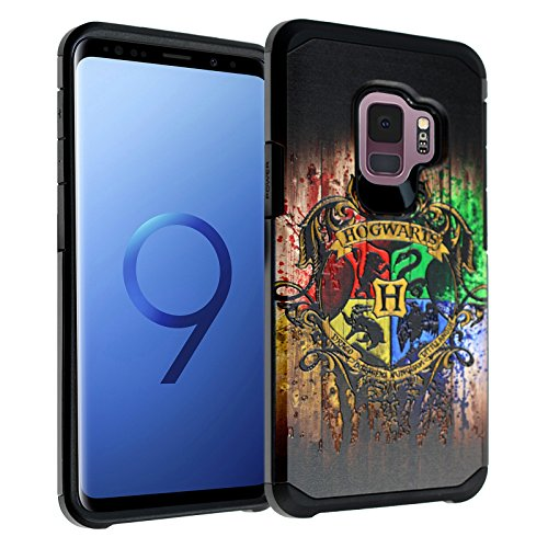 Galaxy S9 Harry Potter Hogwarts Houses Case, DURARMOR Dual Layer Hybrid Shockproof Slim Fit Armor Cover for Galaxy S9 (2018) Hogwarts House