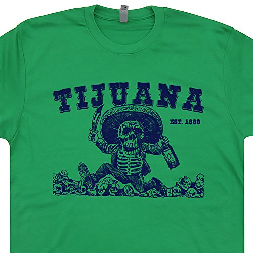 XL - Tijuana Mexico T Shirts Tijuana Shirt Hangover Jose Tequila Worm The Mezcal Party Mexican Skeletons California Graphic - Model Tequila