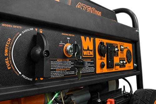WEN 56475 4750-Watt Gasoline Powered Portable Generator with Electric Start, CARB Compliant