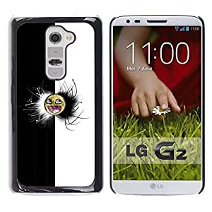 All Phone Most Case / Oferta Especial Duro Teléfono Inteligente PC Cáscara Funda Cubierta de proteccion Caso / Hard Case LG G2 // Black & White Awesome Face Meme