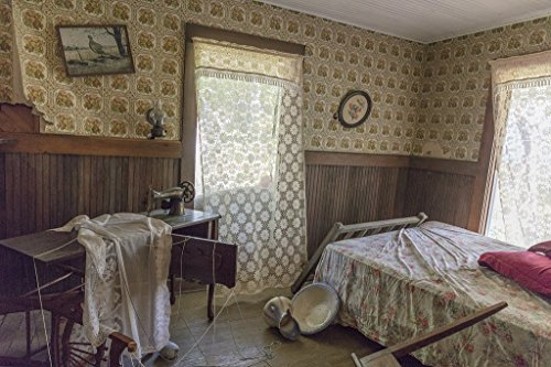 Photograph- Inside Dorothy's house, post tornado, at the Land of Oz, an unusual theme park at Beech Mountain, North Carolina 4 Fine Art Photo Reproduction 44in x 30in (Land Of Oz Theme Park Beech Mountain)