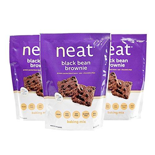 neat - Vegan - Black Bean Brownie Mix (11.6 oz.) (Pack of 3) - Non-GMO, Gluten-Free, Soy Free, Baking Mix