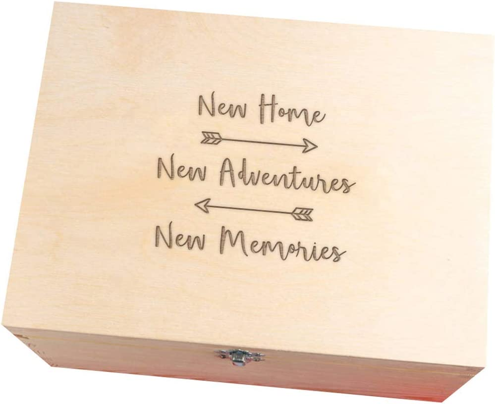 Dust And Things Engraved New Home Memory Box Housewarming Emigrating Gifts Ideas For Couples Friends Families Women Her Wooden Keepsake Box Amazon Co Uk Kitchen Home