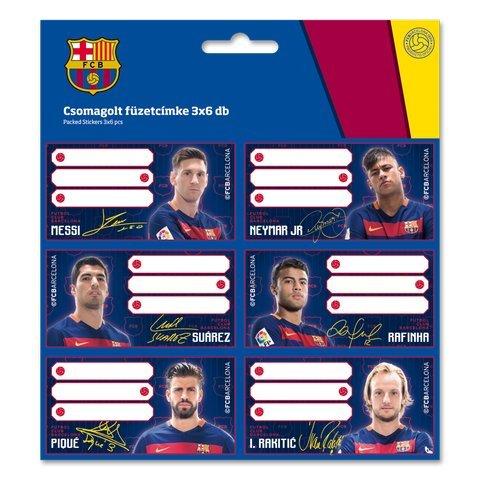 FC Barcelona Etiketten Messi Stickers Aufkleber 18 St/ück