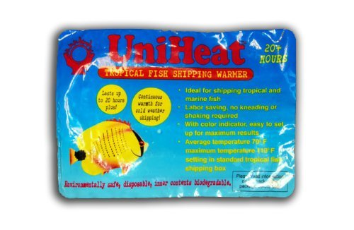 Uniheat Shipping Warmer 20+ Hours, 8 PACK >PLUS!< 1-10''x18'' Shipping Bag, 30+ Hour Warmth to Ship Live Coral, Sm. Pets, Fish, Insects, Reptiles, Etc. + Shipping Bag to Hold in Heat by Uniheat