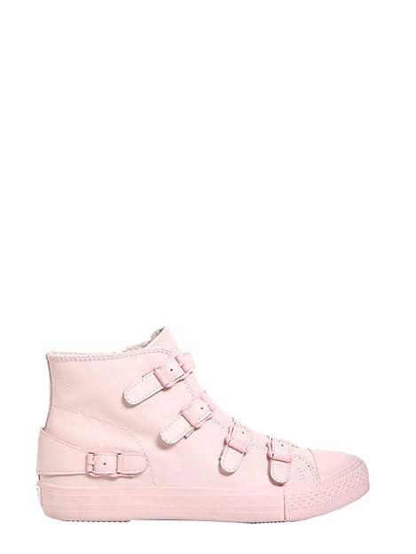 3a3b74f68dc Ash Mujer VENUS04NAPPAPOWDER Rosa Cuero Zapatillas Altas  Amazon.es  Zapatos  y complementos