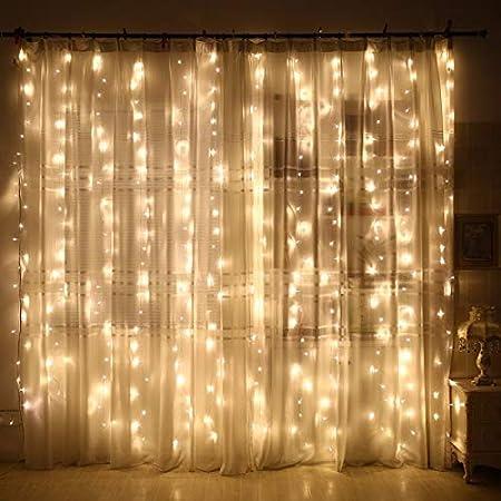 Amazon Com Zhenxin Led String Light 3x3m Waterfall Christmas Led String Fairy Lights Garland Home Holiday Decoration Wedding Led Curtain Light Garden Outdoor