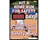 National Marker DSB60 Hit A Home Run For Safety Days Without A Lost Time Accident Scoreboard