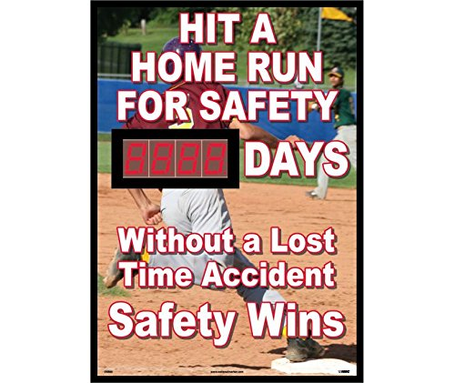 National Marker DSB60 Hit A Home Run For Safety Days Without A Lost Time Accident Scoreboard by National Marker