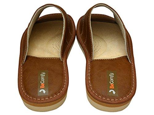 BeComfy - Zapatillas de estar por casa de Material Sintético para hombre Hellbraun 1