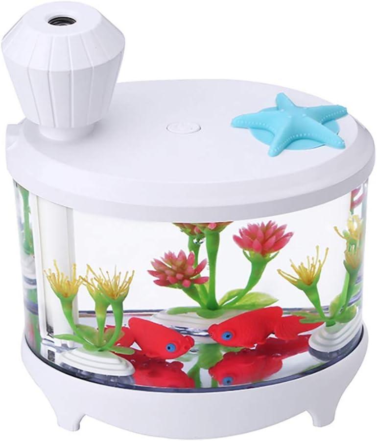 Mjlike Humidificador doméstico Fish Tank Micro Paisaje USB Purificador de Aire Noche Colorida Luz Simulación Hierba Humo Grande Purificación Aire (Color : Elegant White): Amazon.es: Hogar