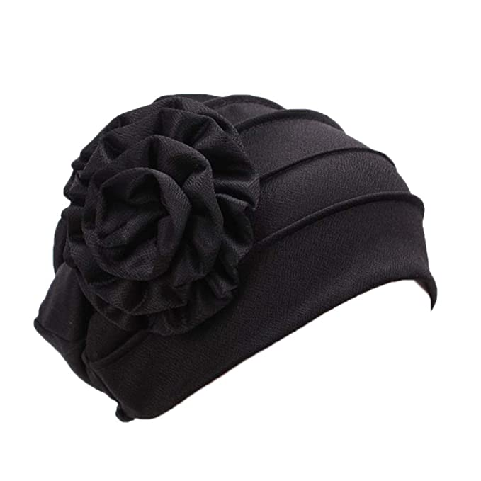 Womens Turban Hat Ladies Pleated Cap Muslin Hijab Head Scarf Wrap Cover Up
