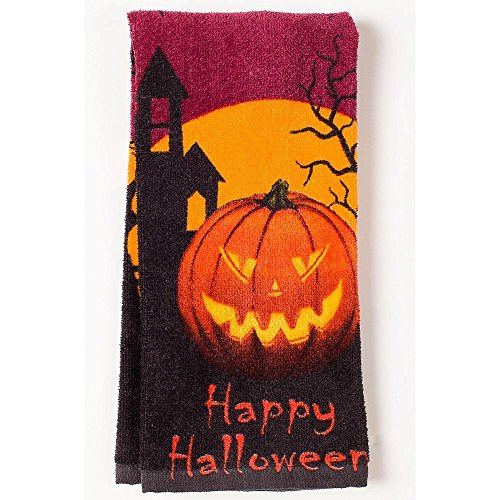 Halloween Jack O Lantern Kitchen Baking Towel Spooky Scary Fun Festive Design