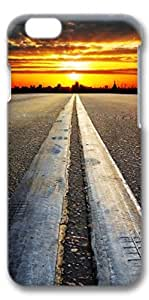 iPhone 6 Case, Custom Design Covers for iPhone 6 3D PC Case - Road Sunset