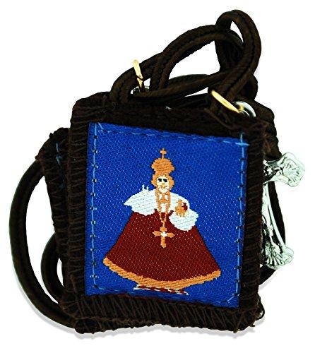 Authentic Catholic Scapular - 100% Wool (Infant of Prague)