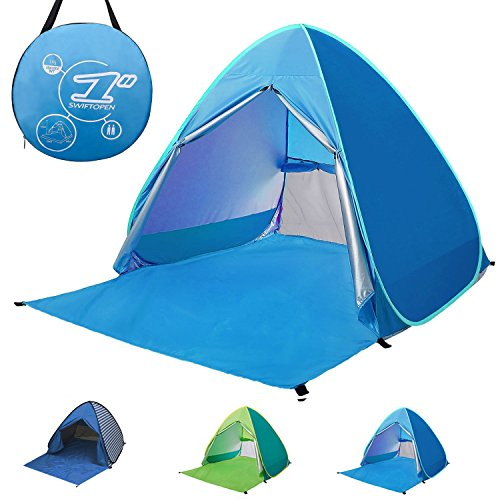Pop-up Beach Tent Portable 2-3 Person Automatic Instant Beach Tent...