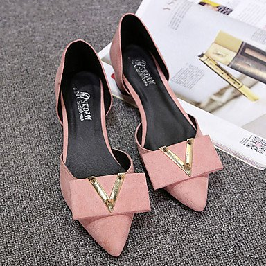 Cómodo y elegante soporte de zapatos de las mujeres pisos primavera otoño otros ante comodidad oficina y carrera vestido casual otros negro rosa gris tacón bajo Walking rosa