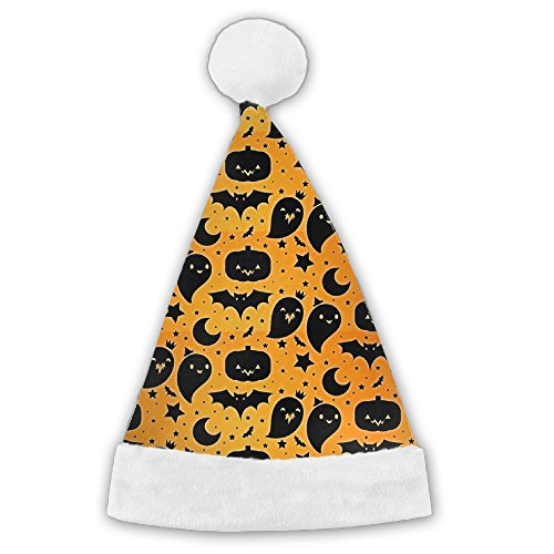 DNUPUP Adults Kids Halloween Pumpkins Star Plush Novelty Merry Christmas Hat Santa Claus Classic Party Costume Hat (Halloween Pumpkin Cutouts Printable)