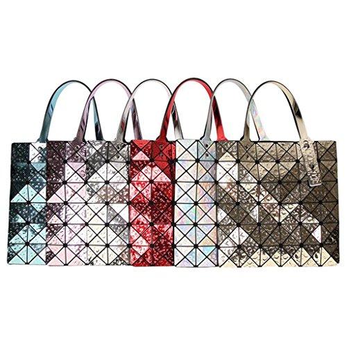 Silver1 Tout À Mode Gouttelette Pack Géométrique Sac Femmes Sacs Fourre Main PU En Rhombique Cuir F06nf1