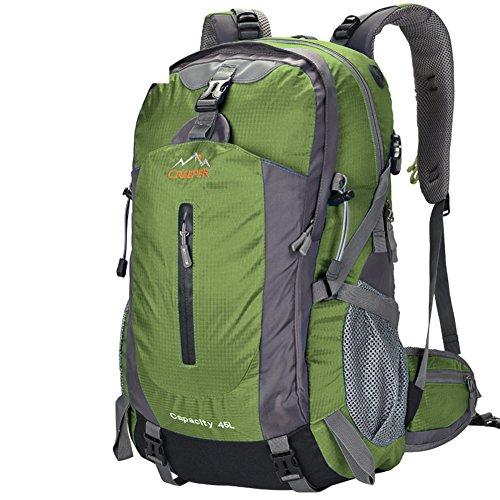Outdoor-Rucksack/Bergsteigen Tasche/Reisen/Wanderrucksack-Armee-Grün 50L