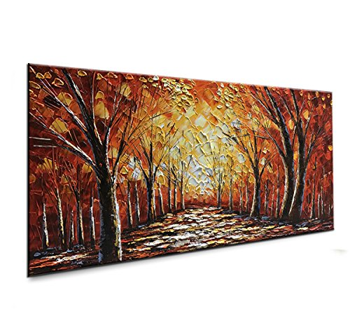 - baccow Paint Art Landscape Paintings 2448, 3D Acrylic Contemporary Art Canvas Painting Frames, Hand Painted Art Work for Living Room Bedroom Office Gallery Wall Hangings ...
