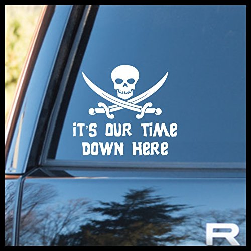 ere Skull Crossed Swords Vinyl Decal   Goonies never Say Die Mikey Truffle Shuffle Chunk One Eyed Willy Pirate Jolly Roger Astoria   Cars Trucks Laptops Cups Tumblers   Made in USA ()