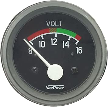 Biopoel Universal Voltmeter 8 16v Ø 52 Mm Auto