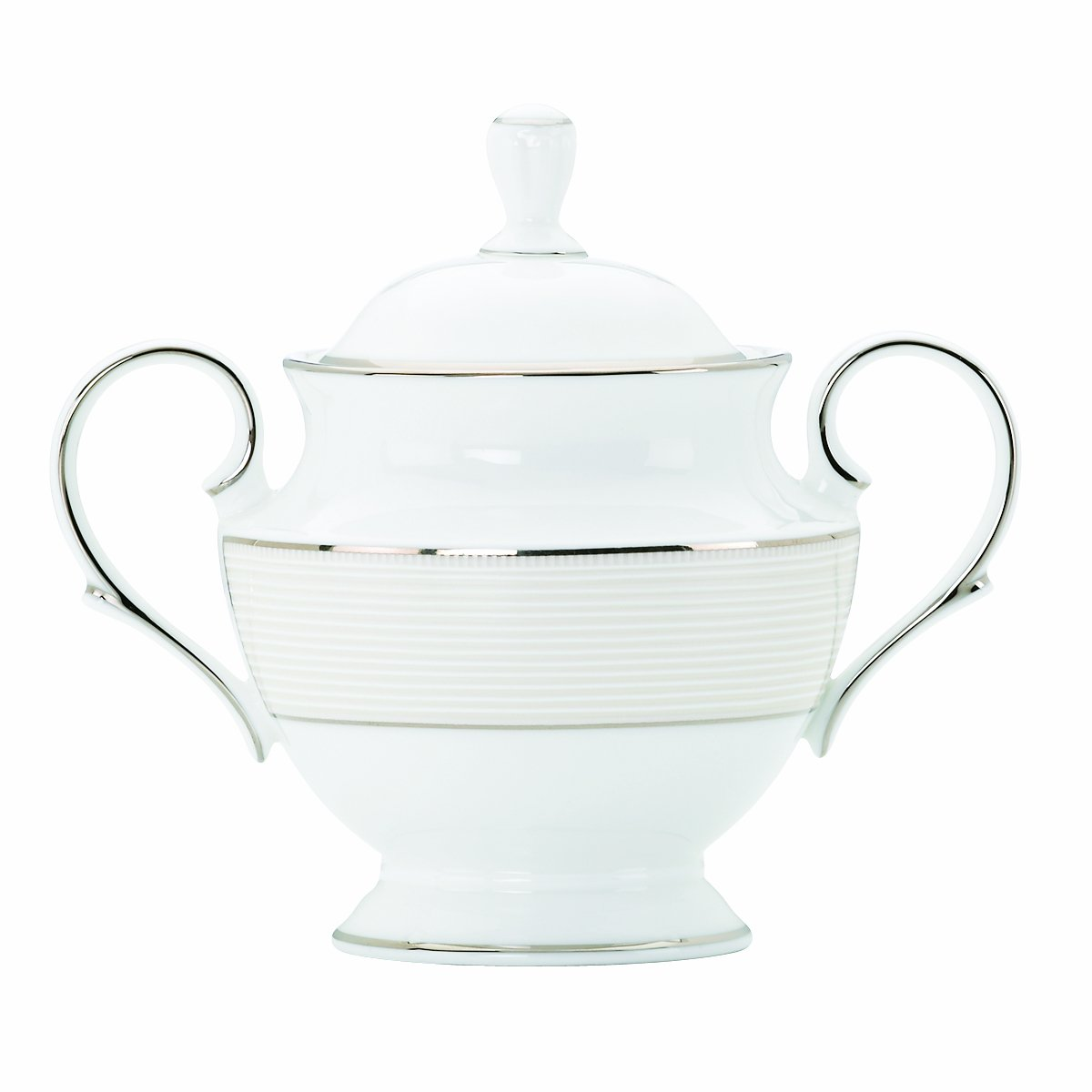 Lenox Opal Innocence Stripe 5-1/4-Inch Sugar Bowl