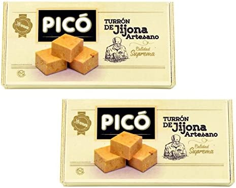 Picó - Pack incluye 2 Turron de Jijona Artesano - Turron blando caja madera - Calidad suprema 300gr: Amazon.es: Alimentación y bebidas