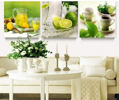 Liyhh 3 Pcs Modern Fruits Lemon Canvas Painting Pictures Kitchen Living Room Decor Amazon Ca Generic