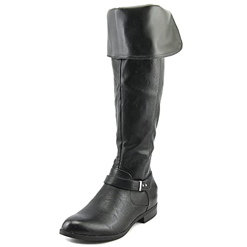 8fd2ca941a2bb Bar III Womens Daphne Closed Toe Over Knee Riding Boots, Black, Size 8.0