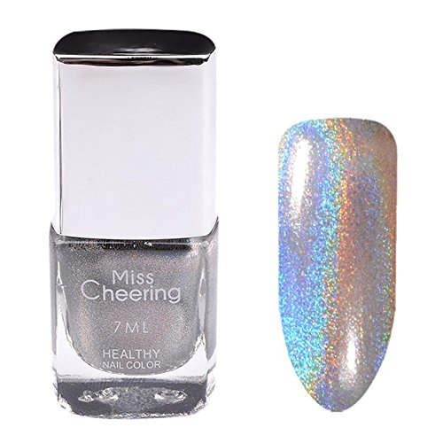 Oksale® 7ML Nail Polish Pretty Holographic Holo Glitter Gel