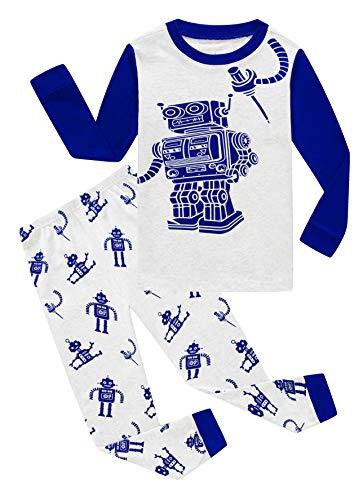 Family Feeling Little Boys Robot Pajamas 100% Cotton Clothes Toddler Kid 4T