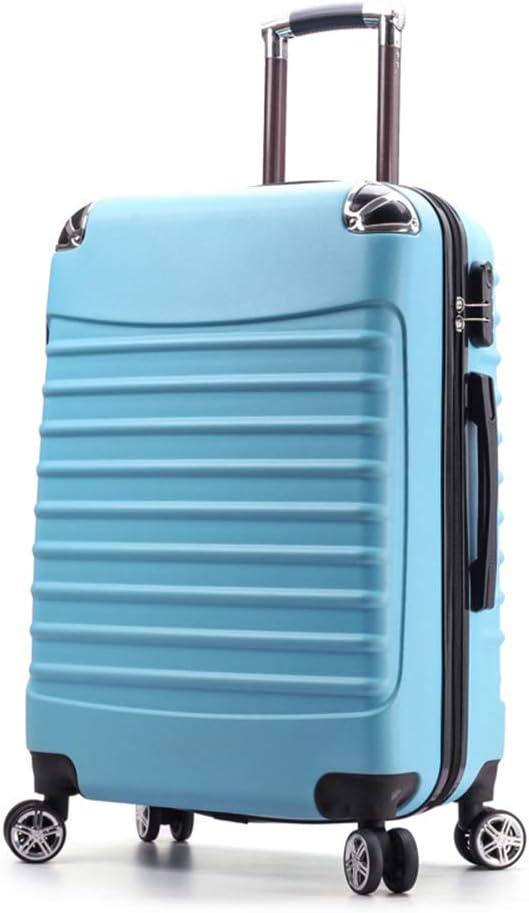 CaoQuanBaiHuoDian Maleta de usos múltiples Hard Shell Carretilla Ligera Maleta del Equipaje de Viaje con 4 Motor de Equipaje de Mano a Mano (Color : Blue)