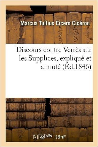 Livres gratuits Discours contre Verrès sur les Supplices, expliqué et annoté (Éd.1846) epub pdf