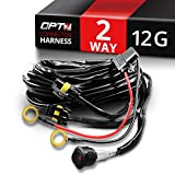 OPT7® 12 Gauge 500W Dual Wiring Harness w/Switch for LED Light Bars - 21ft Dimmer Strobe Waterproof Relay Splitter