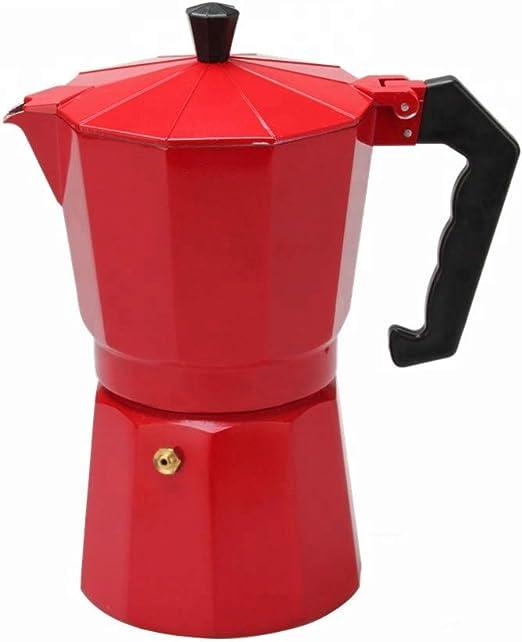 ERNESTO cafetera Italiana Rojo Aluminio 9 Tazas: Amazon.es: Hogar