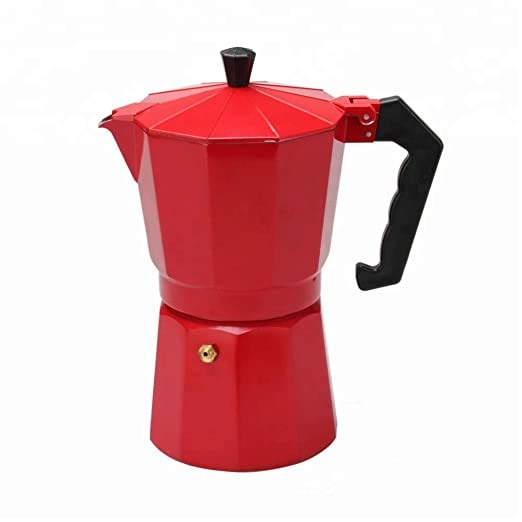 ERNESTO cafetera Italiana Rojo Aluminio 9 Tazas: Amazon.es ...