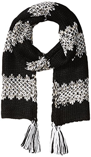 Jessica Simpson Scarf - Jessica Simpson Women's Solid and Marled Stripe Scarf, Black, One Size