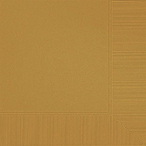 Gold 3-Ply Luncheon Napkins | Pack of 20 | Party -